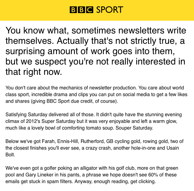 bbc sport olympic newsletter